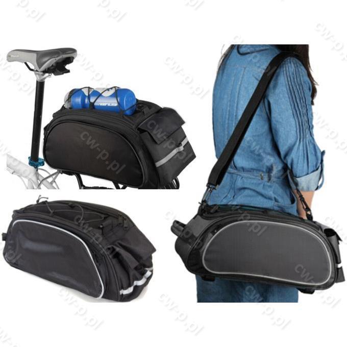 5dd52b01d0e54 Torba rowerowa sakwa na bagażnik i na ramię 4-komorowa 2w1 -34098 ...
